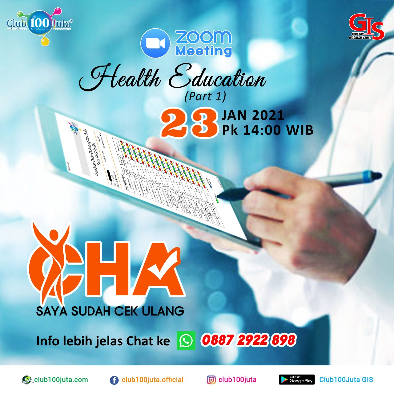 Health Education (part 1) - Edisi 23 Januari 2021