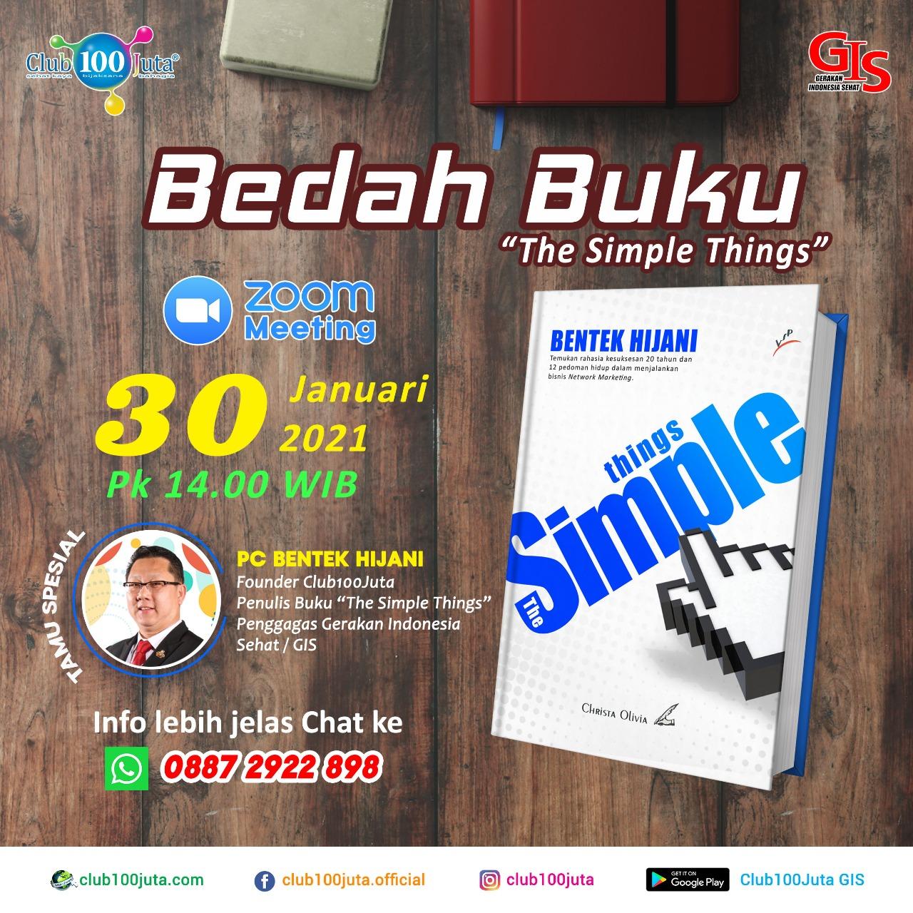 Bedah Buku (The Simple Things) - Edisi 30 Januari 2021