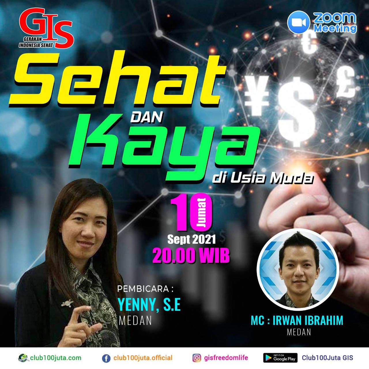 """Webinar """"Sehat dan Kaya di Usia Muda"""" 10 Sept 2021"""